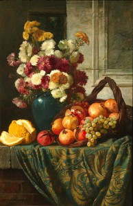 V._Sverchkov._Flowers_and_fruits_(1885,_Tretiakov_Gallery)
